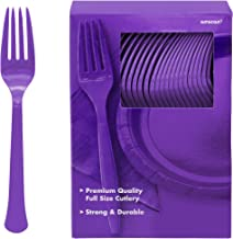 Party Plastic Forks Purple Supply