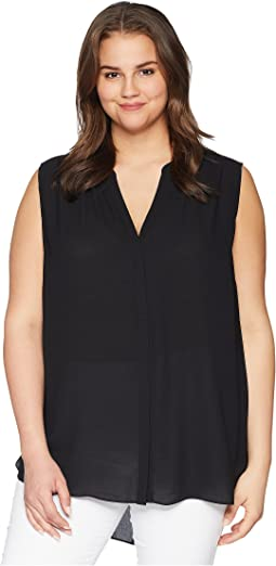 NYDJ Plus Size Plus Size Sleeveless Pintuck Blouse