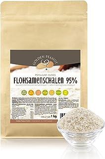 FLOHSAMENSCHALEN 95 prozentige Reinheit   hohe Quellzahl   getestet   allergenfrei   glutenfrei   Vegan   keimreduziert   Low-Carb   1000 g, 1 kg