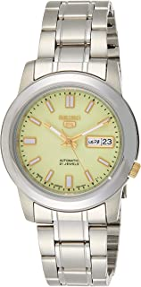 SEIKO Mens Automatic Watch, Analog Display and Stainless Steel Strap SNKK19J1