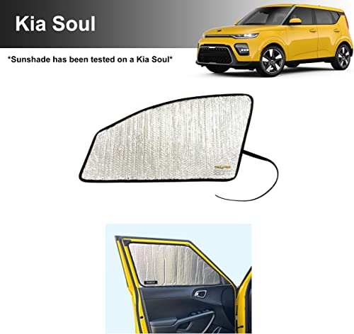 lowest Side Window Front Seat Reflective Sunshade Custom Fit for 2020 2021 Kia Soul GT-Line, GT-Line Turbo, LX, outlet online sale S, EX, X-Line SUV, UV Reflector Sun Protection Accessories (Set wholesale of 2) online sale