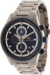 ساعة كوارتز بعرض كرونوغراف وسوار من الستانلس ستيل للرجال طراز MF0081G.03 من ميني فوكس