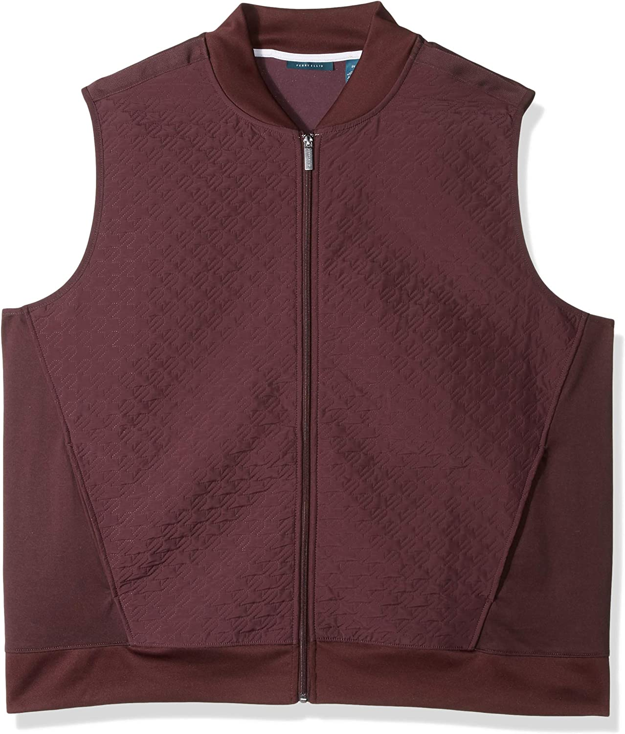 Perry Ellis Men's Big and Tall Big & Tall Quilted Zip-Front Vest