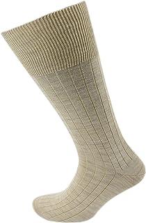 Viyella Mens Plain Ribbed Wool Half Hose Sock
