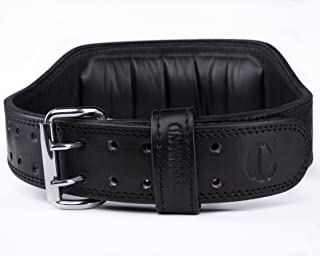 Contraband Black Label 4360 6in 7mm Top Grain Aniline Leather Weight Lifting Belt