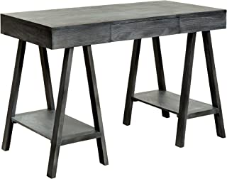 HOMES: Inside + Out ioHOMES Nimoren Sawhorse-Leg Writing Desk, Grey