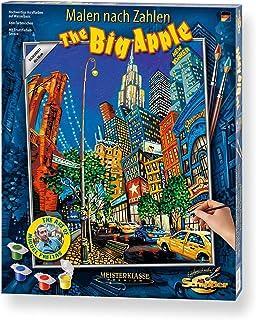 Schipper 609130822 Malowanie według liczb, The Big Apple by Miguel Freitas obrazy dla dorosłych, w zestawie pędzel i farby...
