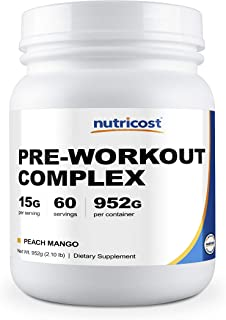 Nutricost Pre-Workout Complex (Peach Mango, 60 Servings)