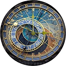Venice Astronomical Clock Necklace Silver Plated Round Zodiac sign Pendant