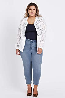 Beme Long Sleeve Broderie Jacket - Womens Plus Size Curvy
