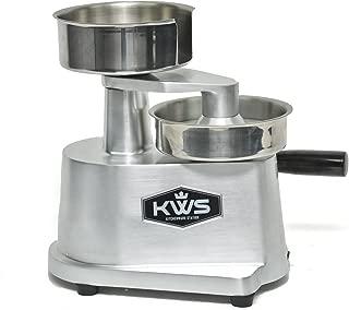 KWS HP-130 Hamburger Patty Press maker, Hamburger Press, Stainless Steel bowl Silver