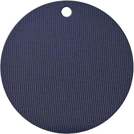 ヨシカワ(Yoshikawa) 調理用まな板 ネイビー/ホワイト 30cm 栗原はるみ まな板 (丸) HK11616