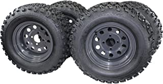 (Set of 4) 23x10.50-12 4 Ply Golf/ATVUTV/RTV Tires & Charcoal Grey Wheels ATW-013