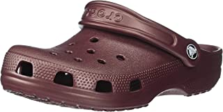 Crocs Classic Clog, Metallic Burgundy, 6 US Women / 4 US Men