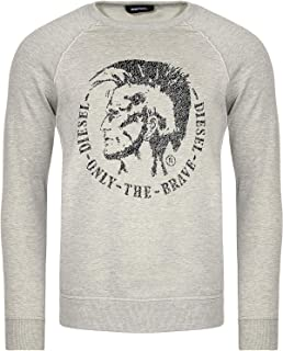 Diesel S-Orestes Grey Marl Logo Sweatshirt