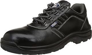 Allen Cooper AC-1267 Safety Shoe, Double Density DIP-PU Sole, Black, Size 7