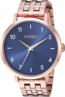 Nixon Women's Arrow Stainless Steel Japanese-Quartz Watch with Stainless-Steel Strap, Rose Gold, 17.5 (Model: A10902953)