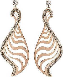 Stroili - Orecchini pendenti in metallo rosato lucido e cristalli per Donna - Kalahari