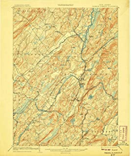 YellowMaps Franklin Furnace NJ topo map, 1:62500 Scale, 15 X 15 Minute, Historical, 1903, Updated 1907, 19.8 x 16.6 in