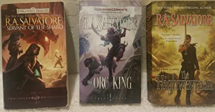 3 Book Set By R.A Salvatore Forgotten Realms~Sellswords Promise of the Witchking/Servant of the Shard/The Hunters Blade The Two Swords/Transitions The Orc King/The Highwayman