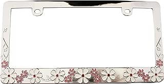 Custom Frames 92859 Multi Color Flowers with Bling License Plate Frame
