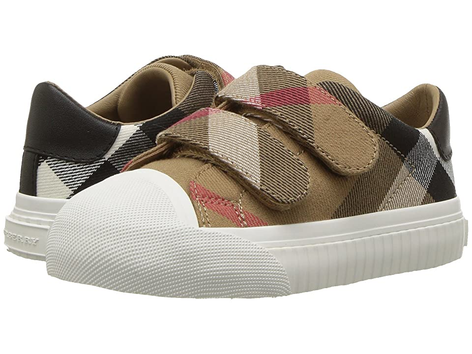 Burberry Kids Belside Check Trainer (Toddler) (Classic/Optic White) Kid