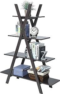 """Convenience Concepts Oxford """"A"""" Frame Bookshelf, Espresso"""
