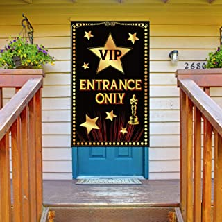 VIP Entrance Door Cover Big Size VIP Door Backdrop Banner Hollywood Theme Party Supplies Birthday Baby Shower Favors Film ...