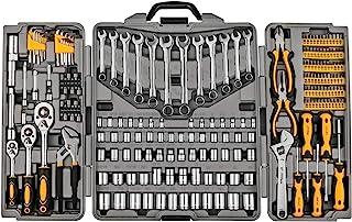 205 Piece Mechanics Tool Set, Socket Wrench Auto Repair Tool Pliers Combination Mixed Hand Tool Set Kit with Box Organizer...