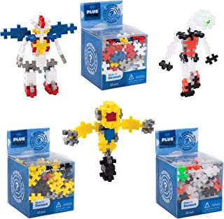 PLUS PLUS – Construction Building Toy, Mystery Makers – Robots, Bundle 2 (Set of 3)