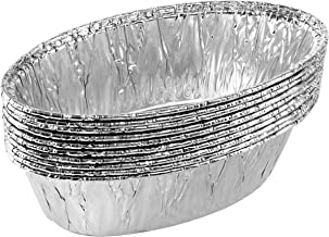 Plasticpro Disposable Oval Aluminum Tin Foil Baking Loaf Pans Bakeware - Cookware Perfect for Baking Cakes,Brownies,Bread,...