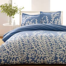 City Scene Branches 100% Cotton-Comforter Set, King, French Blue