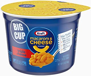 Kraft Easy Mac Triple Cheese Flavor Macaroni and Cheese Big Cup (8 Microwaveable Cups)