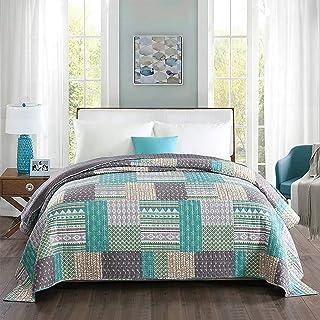 WOLTU BD11m03, Tagesdecke Bettüberwurf Steppdecke Patchwork Wendedesign Bettdecke Stepp Decke Doppelbett unterfüttert und gesteppt, 220x240 cm