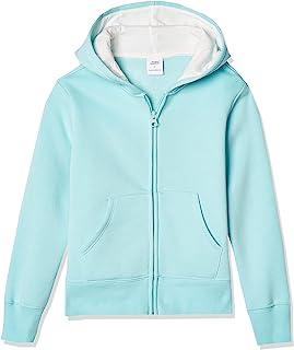 Amazon Essentials Girls' Fleece Zip-up Hoodie Sweatshirt