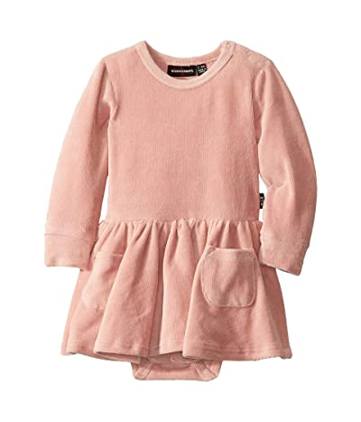 Rock Your Baby Corduroy Long Sleeve Waisted Dress (Infant) (Pink) Girl