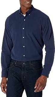 [Amazon Essentials] レギュラーフィット 長袖 無地 オックスフォードシャツ メンズ