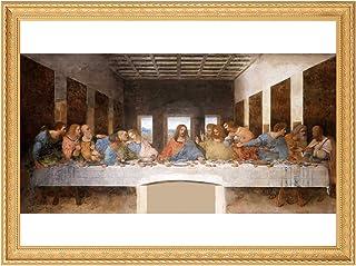 """Poster Leonardo Da Vinci """"The Last Supper """"Poster Size 11.69×16.53inch (A3) Frame Size 18.34×13.54inch<fine Art Paper Prin..."""