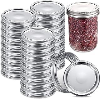 24 Sets Mason Canning Jar Lids and Bands Set Wide Mouth Jar Lids Split-type LidsLeak Proof and Secure Canning Jar Caps