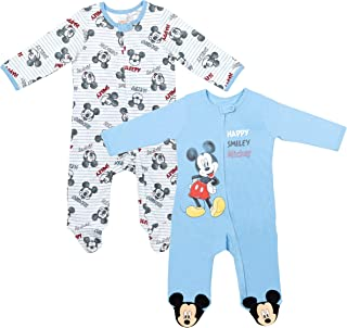 Mickey Mouse Baby 2 Pack Zip-Up Sleep N' Play Coverall