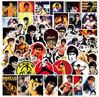 Bruce Lee Stickers for Laptop and Computer【50 PCS】 Waterproof Vinyl Stickers for Water Bottle Hydro Flask Car Bumper Lugga...