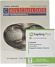 Calculus: Early Transcendentals Single Variable 4e & SaplingPlus for Calculus Early Transcendentals 4e (Single Term Access)