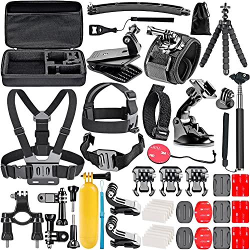 NEEWER 50-In-1 Action Camera Accessory Kit for GoPro 8 GoPro Hero 7 6 5 4 Hero Session 5 Apeman DJI OSMO Action SJ600...