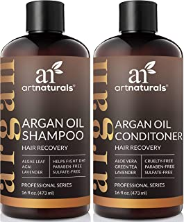 ArtNaturals Moroccan Argan Oil Hair Loss Shampoo & Conditioner Set - (2 x 16 Fl