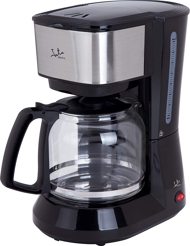 Jata CA390 Cafetera de Goteo . El café clásico en tu hogar De 2 a 18 tazas Frontal de Acero Inoxidable Filtro Permanente Antigoteo Dexconexión Automática Jarra de cristal con Tapa
