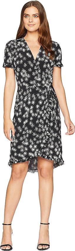 Faux Wrap Ruffle Dress