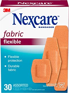 Sponsored Ad - Nexcare Heavy Duty Flexible Fabric Bandages, Assorted Sizes, 30 Count Packages (Pack of 4)