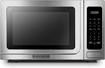 BLACK+DECKER EM036AB14 Digital Microwave Oven with Turntable Push-Button Door,Child..