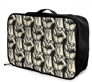 Spring Cartoon Pattern JTRVW Travel Luggage Trolley Bag Portable Lightweight Suitcases Duffle Tote Bag Handbag