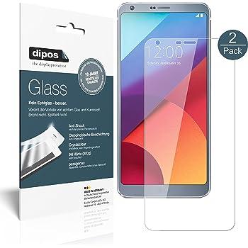 dipos I 2X Protector de Pantalla Compatible con LG G6 Vidrio ...